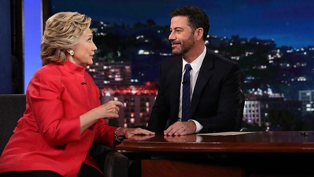 Hillary Clinton and Jimmy Kimmel