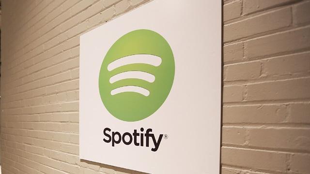 Spotify logo on wall